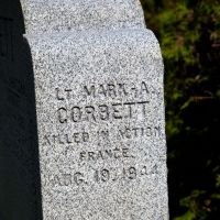 Mark Corbett inscription on St-Patrick's cemetery